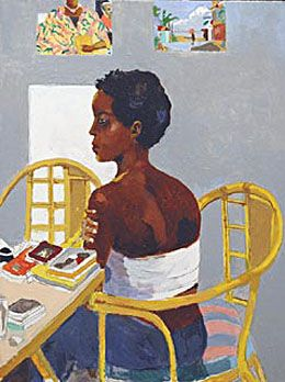 Portrait of Claudia in Yellow Armchair in Derek Walcott: Another Life