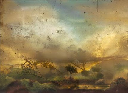 Summer: Blue, Yellow, and Gray, 2004, C-print in Kim Keever