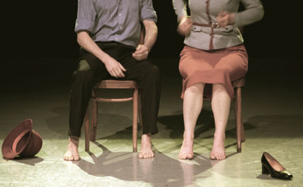 Jon Beasant III and Mindy Nelson in Armistice in Briggs + Yamamoto