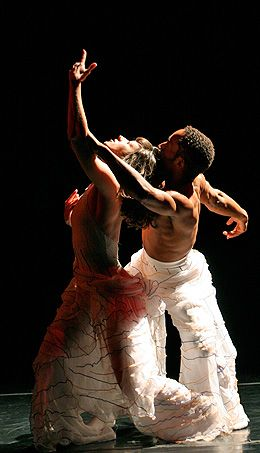 Jacquie Dumas and Nathan Trice in Bottom of a Kiss Floating in Nathantrice/RITUALS