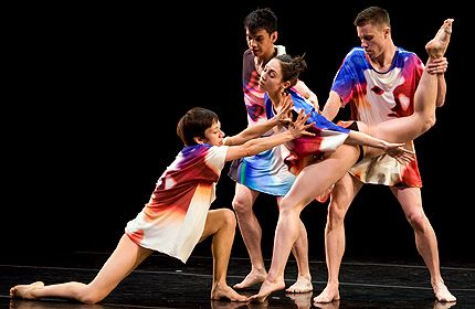 L to R: Elena Demyanenko, Julian De Leon, Amanda Wells, Michael Badger in Candy Says in Stephen Petronio 2008