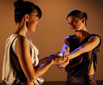 Candice Thompson and Tammy Shamblin, L and R in Ad Hoc Ballet: Her