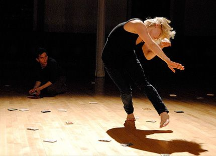 Hanna Kivioja, dancing, and Justin Ternullo in Julian Barnett: Sound Memory