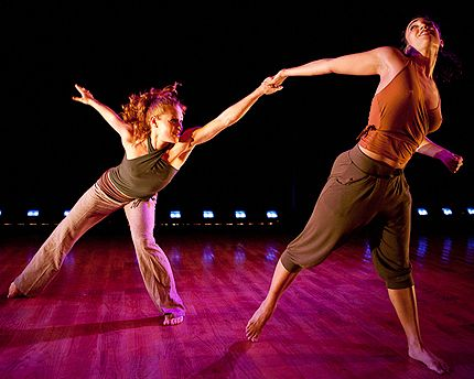Emily Oldak and Marla Phelan in a duet from Young Soon Kim's So Long for Now in Dumbo Dance 2010