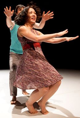 Nikki Zialcita (front) and Michael Helland in Faye Driscoll: There is so much mad in me