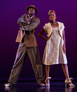 Juel D. Lane and Camille A. Brown in Been There, Done That in Gallim Dance and Camille A. Brown