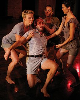 Lawrence Cassella, supported by (l-r)Katy Pyle, Katie Workum and Anna Carapetyan in Katie Workum: Herkimer Diamonds