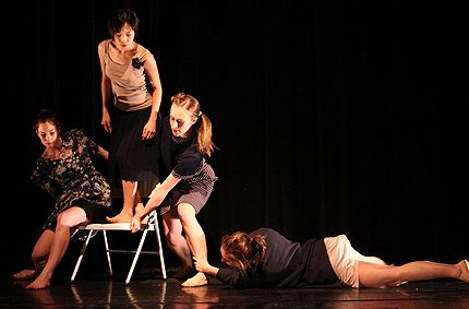 Keelin Ryan, Mana Kawamura, Lise-Lotte Pitlo, Christiana Axelsen in Cloudburst in Performance Mix Festival 2010