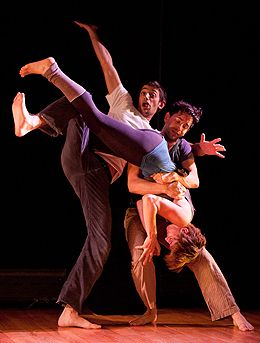 Daniel Kublick, Rebecca Bone and Javier Baca in Becca Alaly's Perfect Boulder in Wave Rising 2010