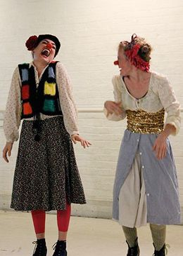 Clowns Ex Machina: Diana Lovrin and Aly Perry in HATCHed WAX: two to view