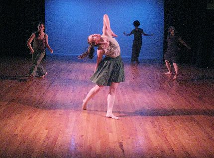 Megan Bascom and Dancers, L-R: Megan Bascom, Alyssa Bruehlman, Robin Cherof, Carly Berrett in HATCHed WAX: two to view