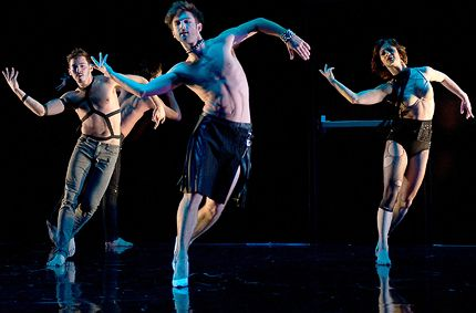 Gary Schaufeld, Aaron Carr and Ashley Browne in Larry Keigwin: Exit