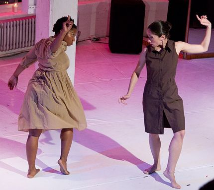 Noele Phillips and Jessica Danser Schwarz in Myth of Sisyphus in BAADass Women Festival