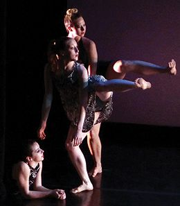 L-R: Melanie Benker, Josephine Haas, Andrea Farley-Shimota in Out of the Question in Purchase Company 2013