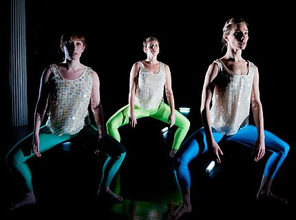 Anne Zuerner: L-R, Phoebe Sandford, Zoe Rabinowitz, Erin Cairns Cella in Raw Directions 2013