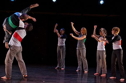 Megan Bascom: L-R, Simon Thomas-Train, Ben Wolk, Anna Barker, Carly Berrett, Robin Cherof, Sammy Donahue in Raw Directions 2013