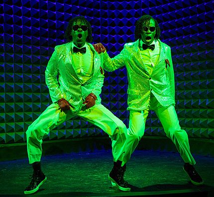 Wondertwins Billy and Bobby McClain in DanceNow 2014