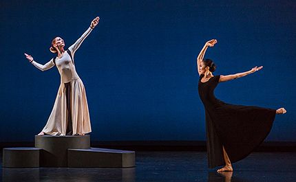 Blakeley White-McGuire and PeiJu Chien-Pott in <i>Chronicle</i> in Martha Graham Company 2016