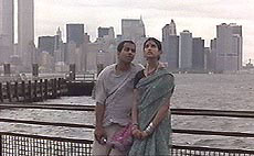 Ajay Nidu and Anjalee Deshpande. in Once We Were Strangers
