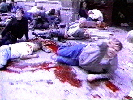 The makers of Yugoslavia: The Forgotten War claim that bombings of Muslims in Sarajevo, like this one, were conducted by the Muslims themselves. in Yugoslavia, the Avoidable War