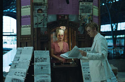 Deborah Harry and JJ Feild in The Moab Story, part one of The Tulse Luper Suitcases. in Toronto Film Festival, Day 2