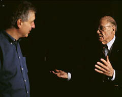 Errol Morris and Robert McNamara in The Fog of War. in Toronto Film Festival, Day 3
