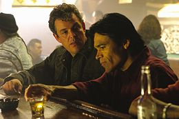 Danny Huston and Sal L�pez in Silver City. in Silver City