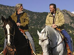 Kris Kristofferson and Chris Cooper in Silver City. in Silver City