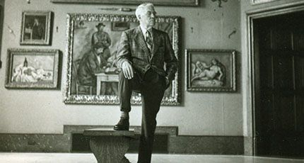 Dr. Albert Barnes in the foundation he created before his death in 1951. in The Art of the Steal