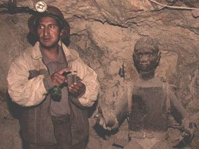 A miner recounts the lore of the Potosi mine in Bolivia. in The End of Poverty?