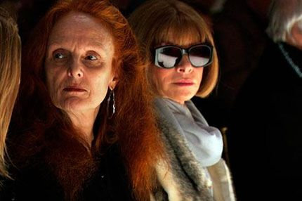 Vogue editors Grace Coddington and Anna Wintour in The September Issue. in The September Issue