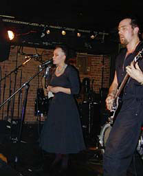 Monica Nelson and Jason Springwell of Candymeat at Mercury Lounge. in Candymeat