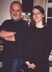 WFMU DJ Laura Cantrell (with BBC great John Peel). in 2001 Radio Festival