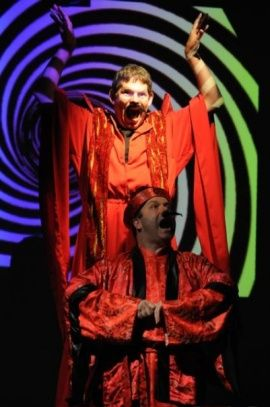 Philip Nolen and Brad DePlanche as Ming the Merciless and Fu Manchu in China: The Whole Enchilada